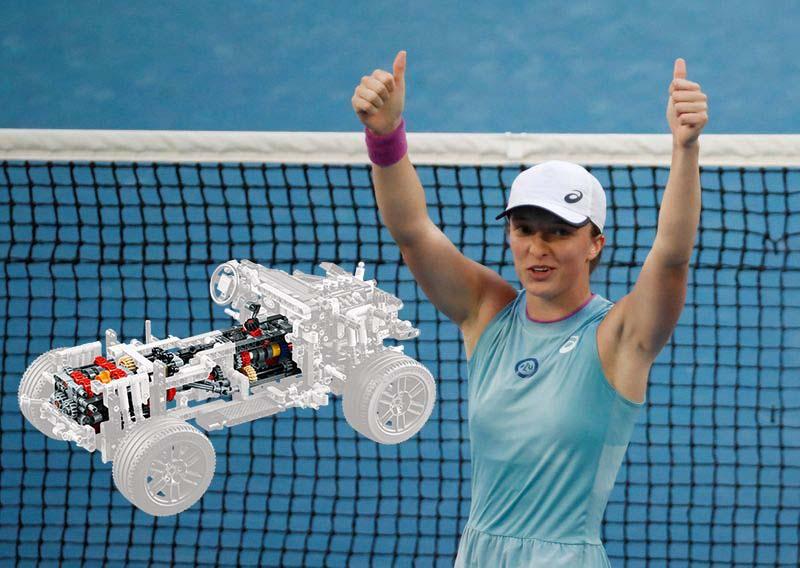 Iga Swiatek trainiert ihre mentale Stärke mit Legobausteinen